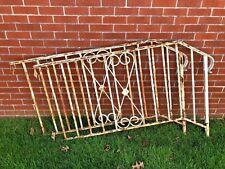Vintage Wrought Iron Hand Rail Pair railing handrail architectural salvage decor