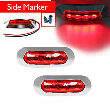 2x Red 4 SMD LED Lamp Clearance Side Marker Tail Light Truck Trailer RV 12V 24V