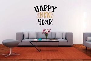 Happy New Year Vinyl Decal for DIY Signs, Walls, Wood, Metal, New Year's Eve Par