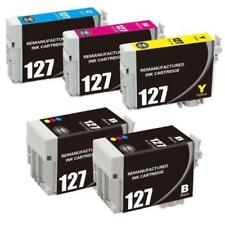 5 Pack #127 Ink Fit For Epson WorkForce 630 633 635 645 840 845 T127