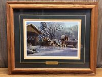 """""""Treasured Memories"""" Framed Print By Artist Kim Norlien Matted, Large A9"""