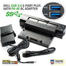 Dell E-Port Plus USB 3.0 Docking Station Replicator with PA-4E AC Power Adapter