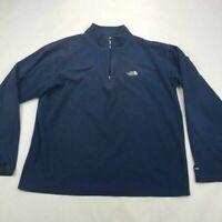 The North Face Mens Sweatshirt Navy Blue Long Sleeve 1/4 Zipper Pullover M