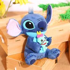 Xmas Lilo&Stitch Plush Toys Soft Stuffed Girl Disney Cartoon 9'' Christmas Gifts