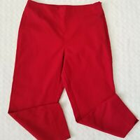 Talbots Women's Heritage Red Cropped Capri Ankle Pants Size 8 Petite New!
