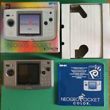 SNK Neo Geo Pocket Color Handheld Console - Platinum Silver