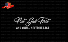 Put God First Decal Sticker Christian Religious Pray Blessed