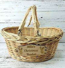 Personalised Engraved Christmas Basket Hamper Empty Make your own Christmas Eve
