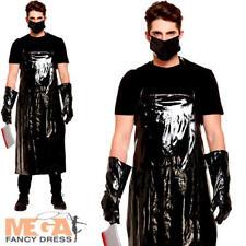 Vestido de Disfraz Halloween Para Hombre Aterrador Carnicero espeluznante Horror Asesino Oscuro Disfraz para adultos
