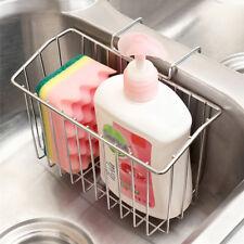 Stainless Steel Sink Shelf Soap Sponge Drain Rack Bath Holder Kitchen Storage