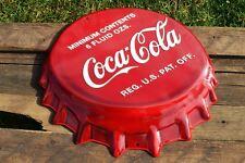 "Coca-Cola Bottle Cap Embossed Tin Metal Sign - 18 1/2"" x 16"" - Vintage - Coke"