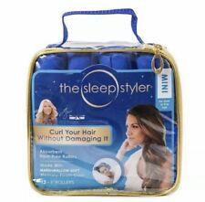 "THE SLEEP STYLER Heat-free Nighttime Hair Curlers Mini  3"" Rollers Set Of 12"