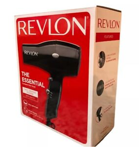 NEW Revlon The Essential Fast Drying Hair Dryer Black 1875 Watts 2 Speed Setting