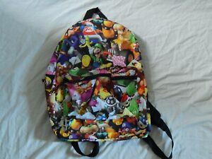 Mario Kart Backpack Luigi Figures Vintage New School Book Bag Purse Donkey Kong