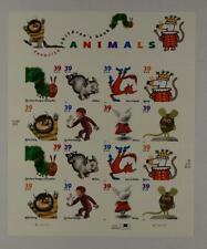US SCOTT 3987-94 PANE OF 16 CHILDRENS ANIMALS 39 CENT FACE MNH