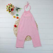 Toddler Kids Baby Girl Halter Romper Jumpsuit Playsuit Harem Pants Outfits Set