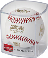 2020 World Series Champions Los Angeles Dodgers Baseball in Display Cube