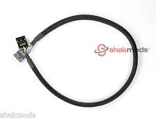 Shakmods 30cm front pannel Câble d'extension audio interne-noir à manches main