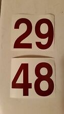 Vehicle Numbers Decals- 3 for $1.99  3in  FREE SAME DAY SHIPPING