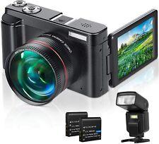 Digital Camera, Video Camera FHD 1080P 30FPS 24MP Video Camcorder, YouTube Vlogg