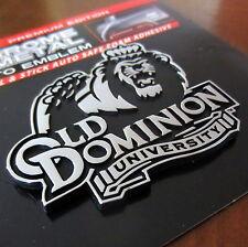 ODU Old Dominion University Monarchs PREMIUM CHROME METAL AUTO EMBLEM car decal