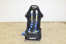 JDM Sparco Corsa Racing Bucket Seat Non-Reclinable with Sabelt Harness & GD Rail