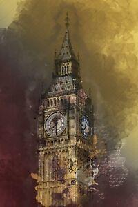 LONDON BIG BEN CANVAS PICTURE POSTER PRINT UNFRAMED D96