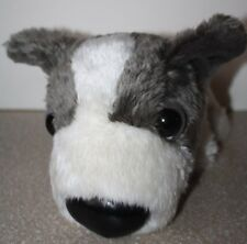 "Artlist Collection Gray White Papillon Plush Dog 12"" with Tush Tag"