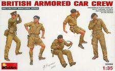 Miniart 1:35 WWII British Armored Car Crew Plastic Figure Kit #35069U
