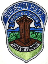 BURLINGTON VERMONT VT Sheriff Police Patch WATCH TOWER RIVER SILVER BORDER ~ USE