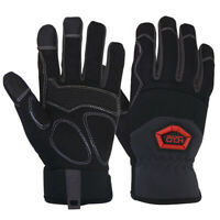 Anti Vibration Work Gloves Synthetic Leather Padded Dexterity Mechanic Gloves