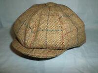 MADE IN ENGLAND WOOL 8 PIECE NEWSBOY BAKER BOY GATSBY PEAKY BLINDERS CAP