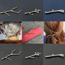 Silver Hair Clips For Women Bobby Pins  Wedding Hair Jewelry Simple Design 2PCS
