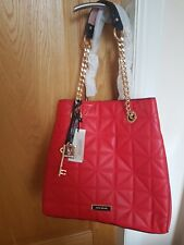 RIVER ISLAND red quilted slouch chain bag Brand new WITH TAGS