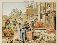 Handwerk Handwerker Hausbau Steinmetz Zimmermann Bauarbeiter Maurer Baustelle