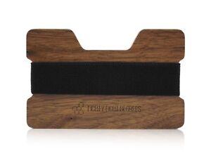 Walnut Wooden Wallet, Card Holder, Slim Wallet, Real Wood, Modern Card Holder