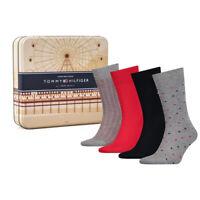 Tommy Hilfiger Mens 4 Pack Adults High Calf Socks Gift Box Set 392003001 085
