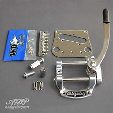 BIGSBY B5 + WD Conversion KIT: BRIDGE 6 SADDLES + Pickup PLATE CHROME