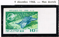 Corea Soviet Spacecraft Luna 9 on Moon stamp 1966 MNH imperforated