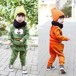 2PCS Baby Boys Long Sleeve Coat + Long Pants Set Kids Casual Clothes Outfits
