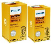 2x PY24WSV+ 12V 24W PGU20/4 SilverVision Plus Philips
