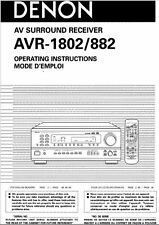 Denon AVR-1802 Receiver Amplifier Owners Manual