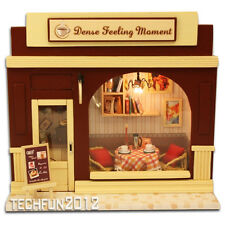 Handmade Wooden DIY European Miniature Shop House - Dense Feeling Moment