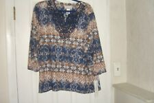 ALFRED DUNNER SIZE 3X TOP LACE BIADERE TOP NEW FLASH NEW WITH TAGS