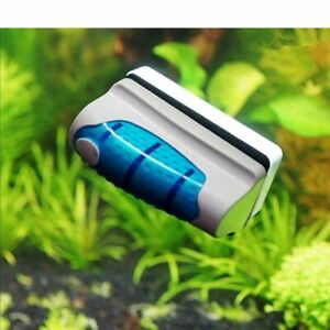 Magnetic Aquarium Algae Scraper Fish Tank Glass Cleaner Brush Scrubber Cleaning