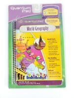 Quantum Pad Learning System GEOGRAPHY Book & Cartridge NEW SEALED