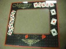 Monitor Bezel Arcade Game 2000 Mystery Poker bezel screen glass