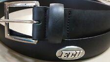 Men's Black Leather Belt with Ecu East Carolina University Conchos Size 44 R