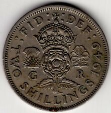 1949 GREAT BRITAIN TWO 2 SHILLINGS KING GEORGE VI NICE WORLD COIN