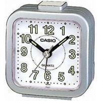 Casio TQ141 Mini Beep Analogue Bed Alarm Clock Silver